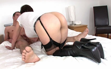Booted milf blowjob from Lady Sonia
