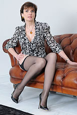 Nylon legs mature from Lady Sonia