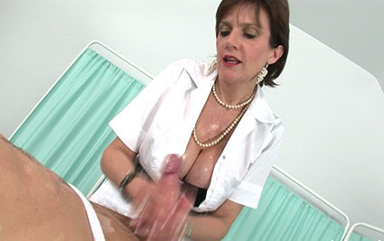 Milf nurse handjob from Lady Sonia