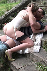 Milf fucks outdoors from Lady Sonia