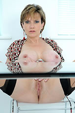 Busty hotwife spreads from Lady Sonia