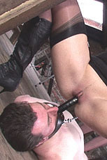 Penis gag riding from Lady Sonia