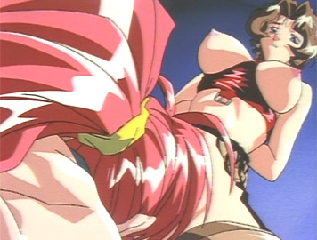 Hot anime skank licks bondaged brunnettes wet pussy from Bondanime