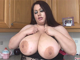 Plumper Madison Blush wrapping her giant melons  from Busty Britain