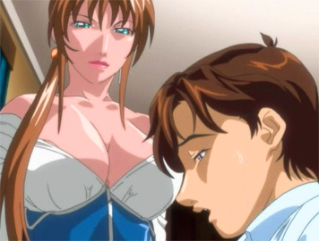 Sexy hentai woman with huge juicy tits fuck her office guy from titanime