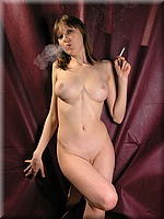 Naked hottie smoking from SmokingBunnies
