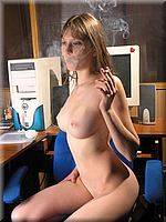 Smoking office girl from SmokingBunnies