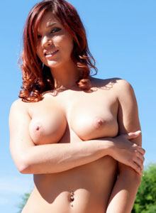 Devine One Jayden Cole strips out of her green string bikini from Devine Ones