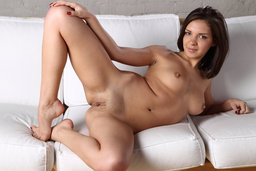 Pretty girl-next-door Henessy takes off her clothes and shameles from Erotic Beauty