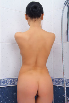 Vivien can't help getting horny in the shower, fucking her ass from Sex Art